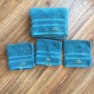 LaCoste Ocean Blue Handtowel & Washcloths